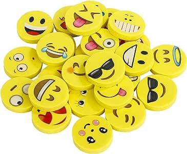 Gomas de borrar Emoji Pack de 144 Emoticon lápiz Gomas borrar Mini ...