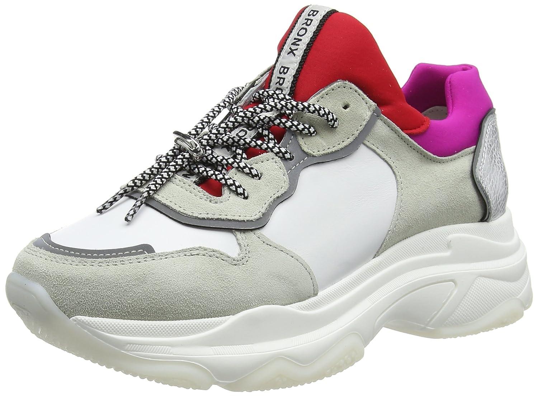 Bronx Baisley, Zapatillas para Mujer 37 EU|Blanco (White/Red/Fuchsia 2298)