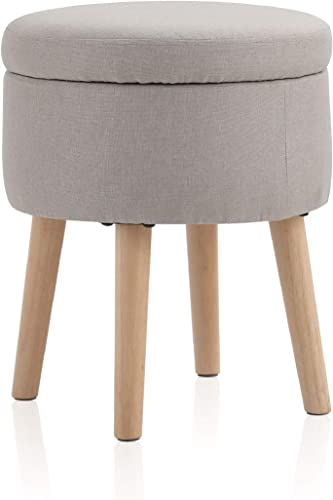 ALPHA HOME Round Storage Ottoman - the best ottoman chair for the money