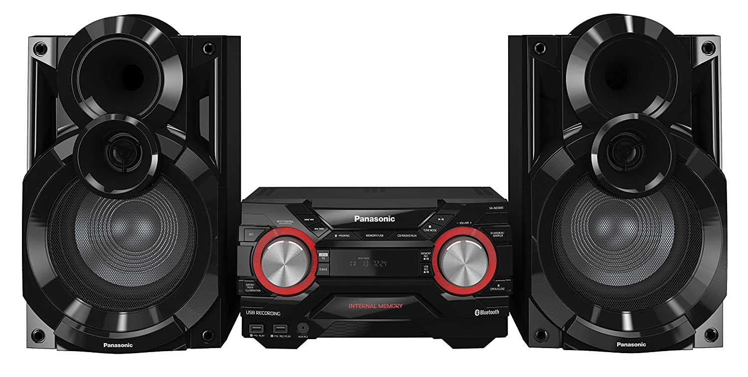 Panasonic SC-AKX400EBK 600 W Speaker System with Wireless Audio Streaming and 2 GB Internal Memory – Black