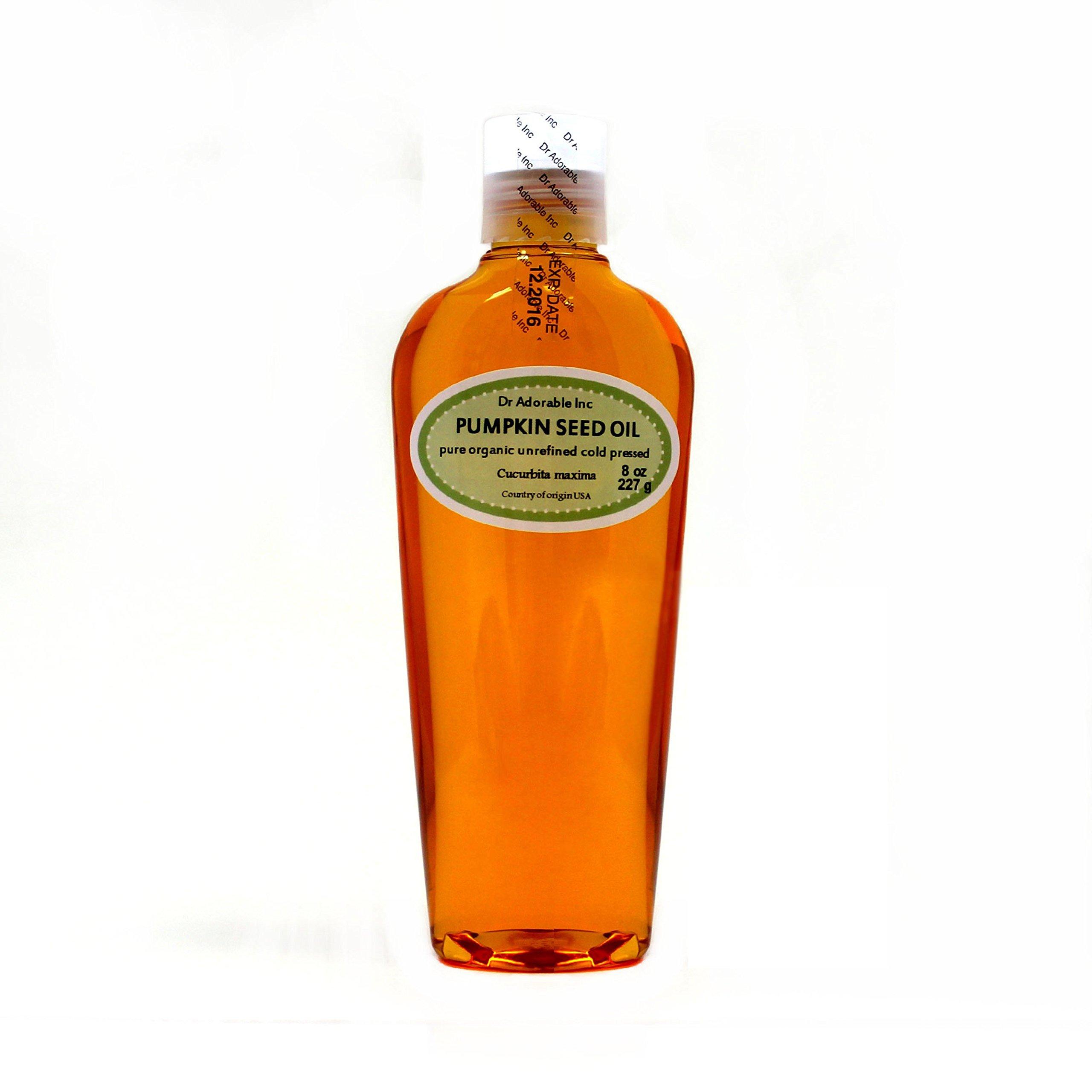 Pumpkin Seed Oil Unrefined Virgin Cold Pressed Organic 8 Oz