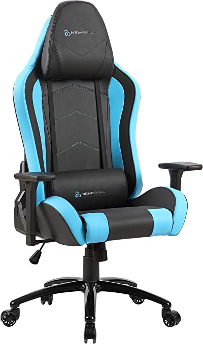 Newskill Takamikura - Silla gaming profesional (inclinación y altura regulable, reposabrazos ajustables, reclinable 180º), Color Azul: Amazon.es: Informática