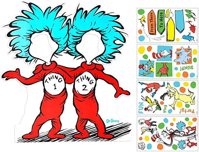 Seuss The Lorax Truffula Tree Wall Decals Kids Wall Stickers Baby Nursery Childrens Bedroom Playroom Wall Decor decalmile Dr