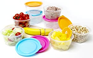 KEEPBOB 8 Piece Rice and food saving container/microwave safe/freezer safe/BPA free (Large)