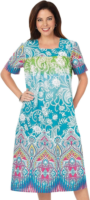 Carol Wright Gifts Batik Dresses for Women, Color Multi, Size XL, Multi, Size XL
