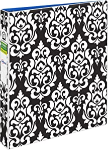 Avery Durable View Binder with 1 Round Rings,Damask (26747)