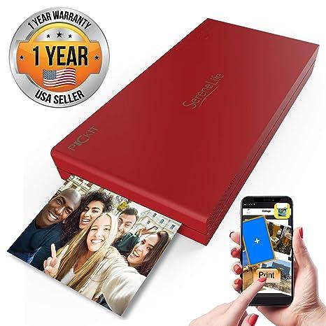 Serenelife - Impresora de Fotos Portátil Instantánea Wireless ...
