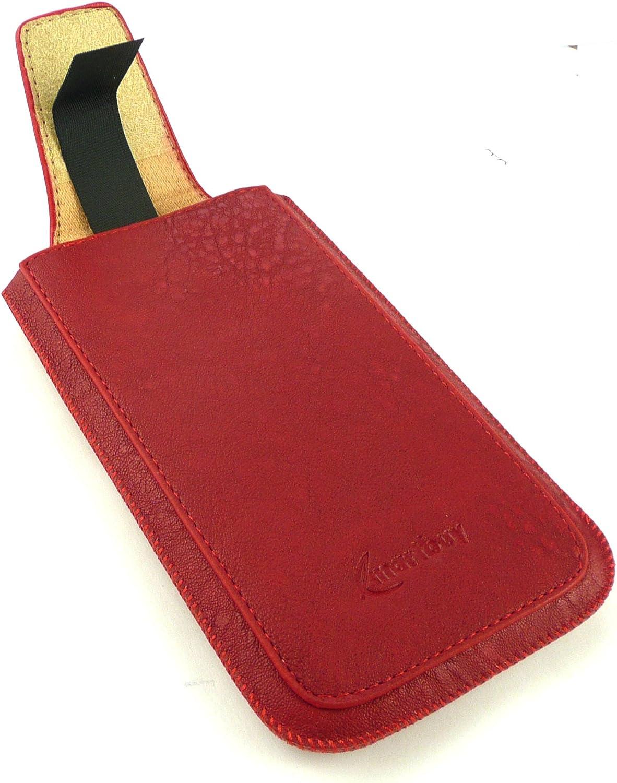Emartbuy® Classic Range Rojo Cuero PU Funda Carcasa Case Tipo ...