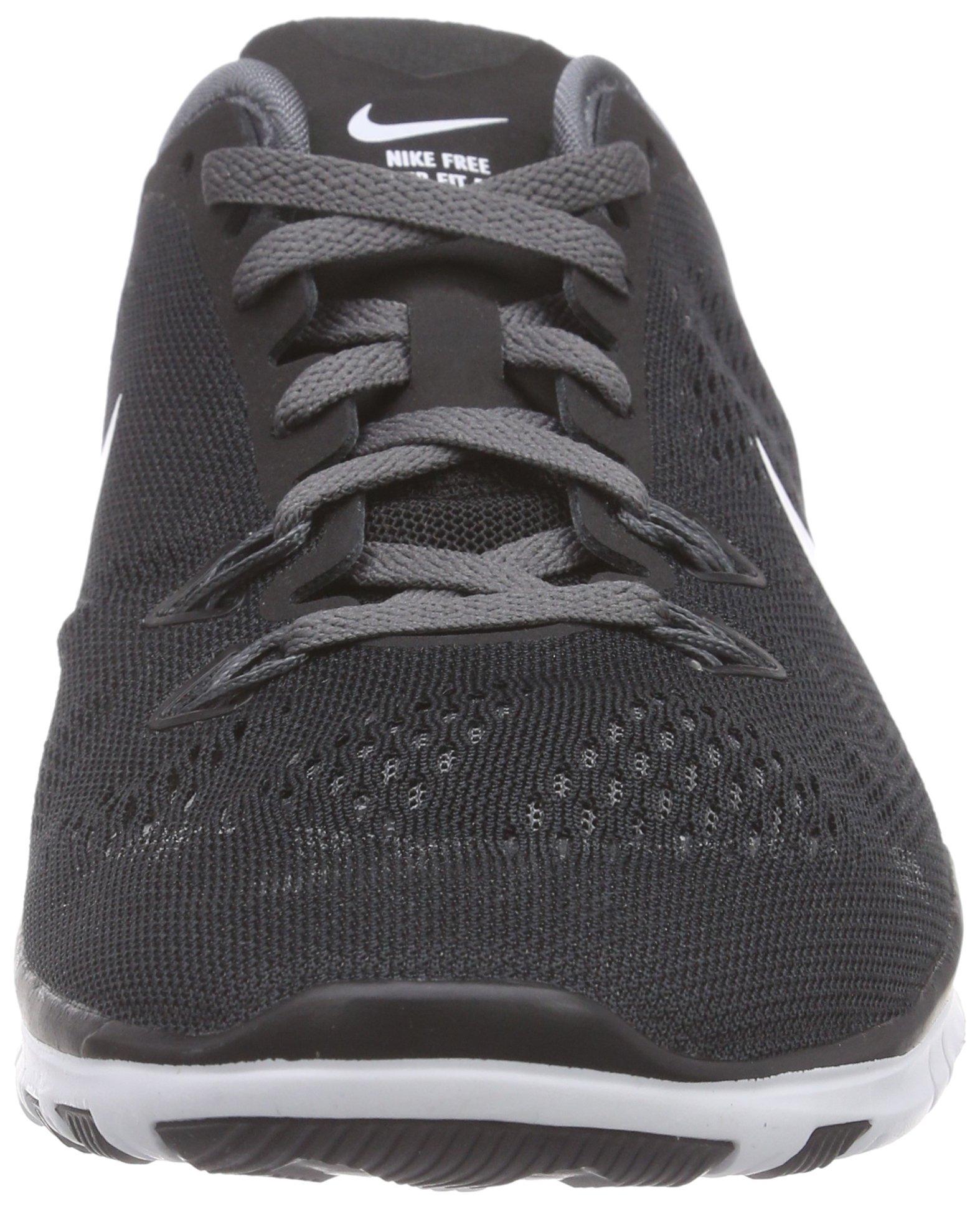Nike Womens Free 5.0 Tr Fit 5 Black/White/Dark Grey/White Training Shoe 5 Women US by Nike (Image #4)