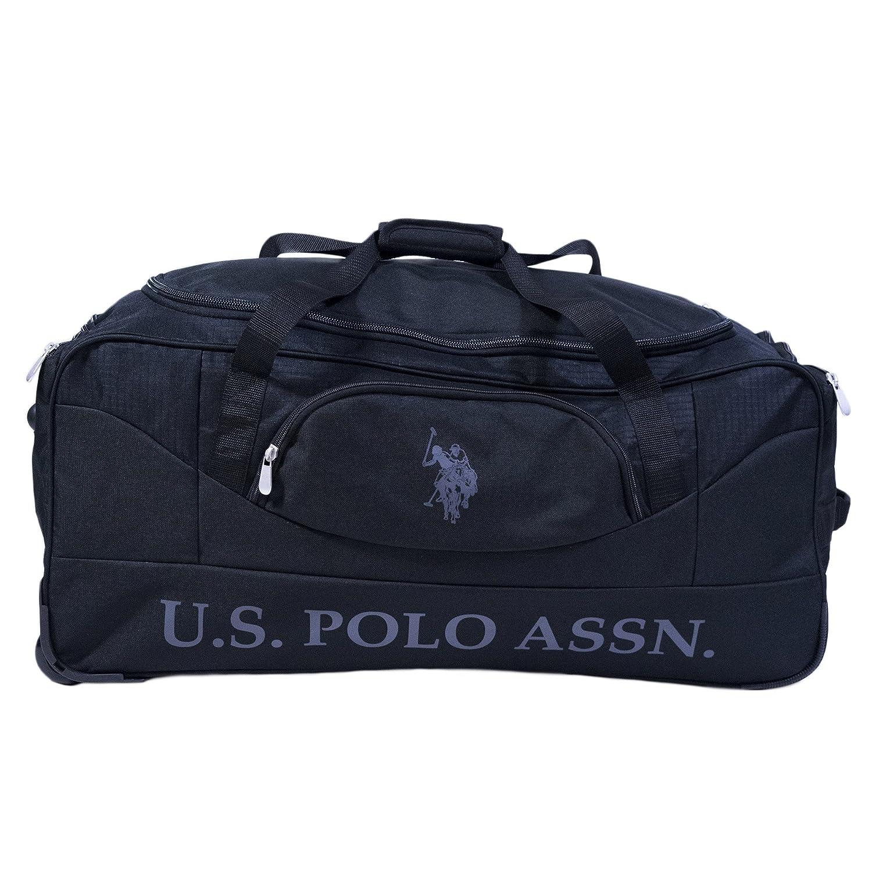 U.S. Polo Assn. ダッフルバッグ  ブラック/ブラック B07FSVCBBC