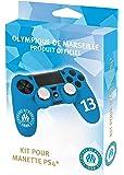 Kit pour manette PS4 (housse + caps) - Silicone pour manette playstation 4 - Licence officielle OM - Olympique de Marseille - numero 13