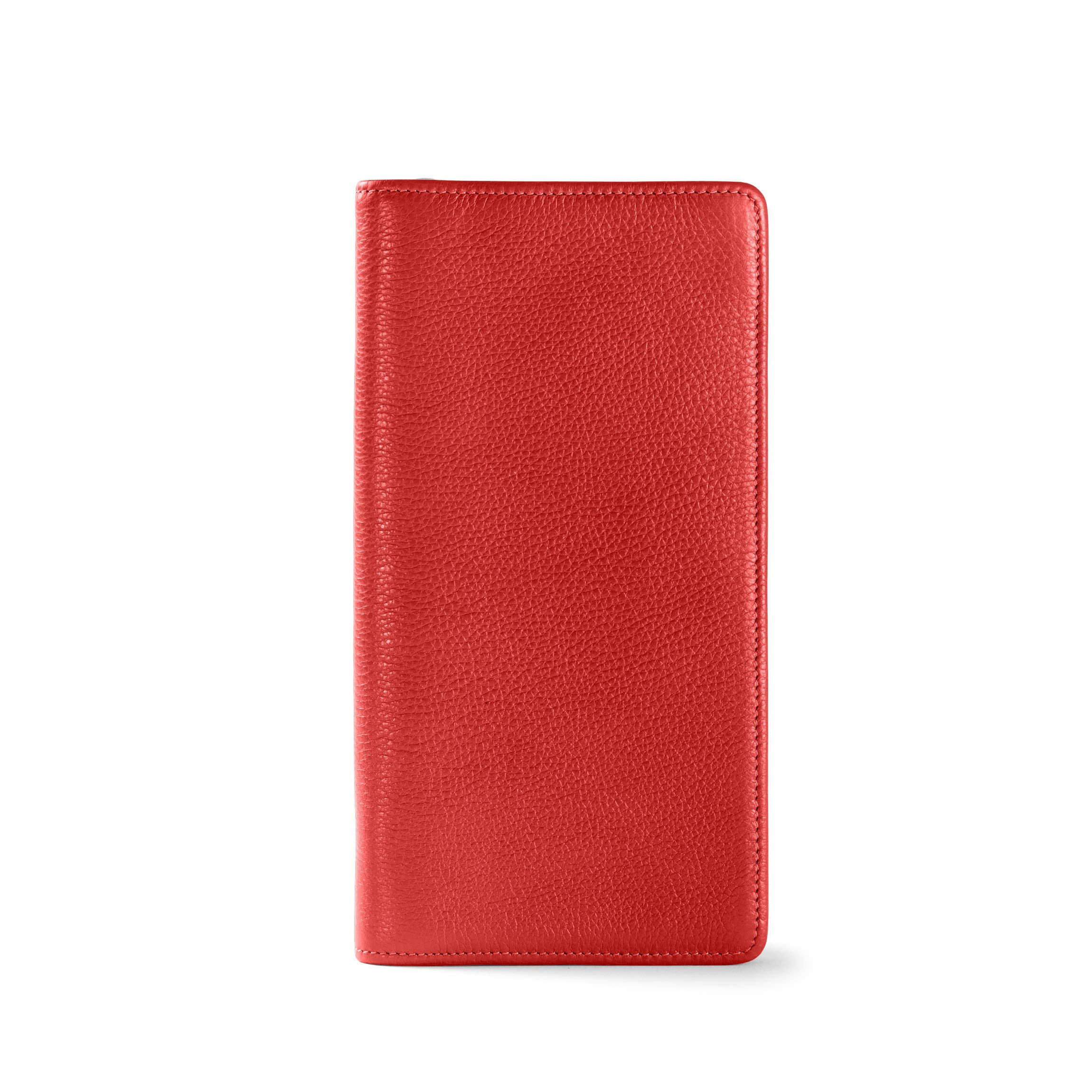 Zip Around Travel Wallet - Full Grain Leather Leather - RFID Scarlet (Red)