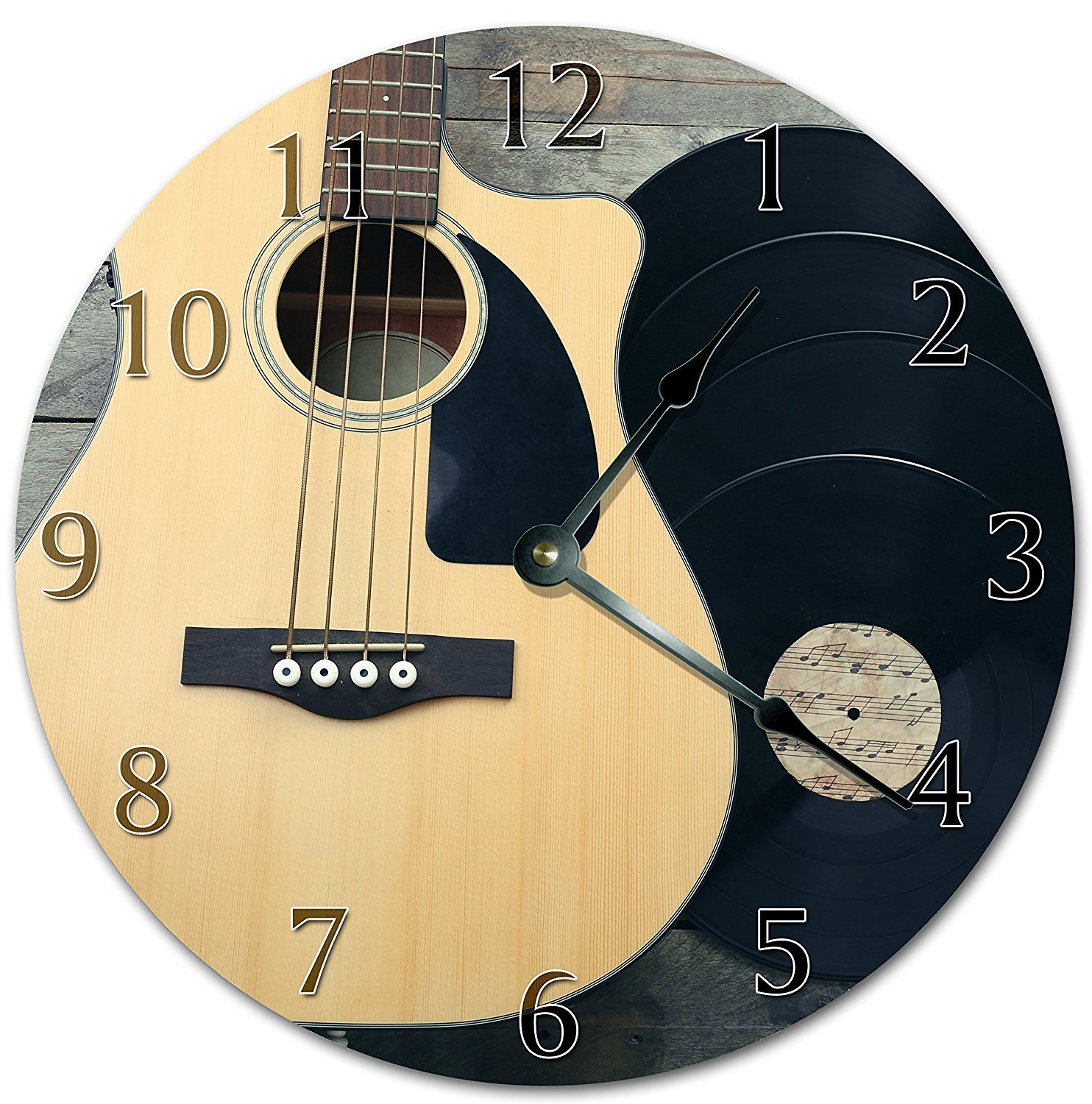 12 Vintage The Amazing Taylor Guitar Clock Printed Clock Wooden