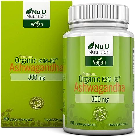 Cápsulas Veganas de Ashwagandha KSM-66 Orgánica de 300 mg | 90 Cápsulas - Suministro