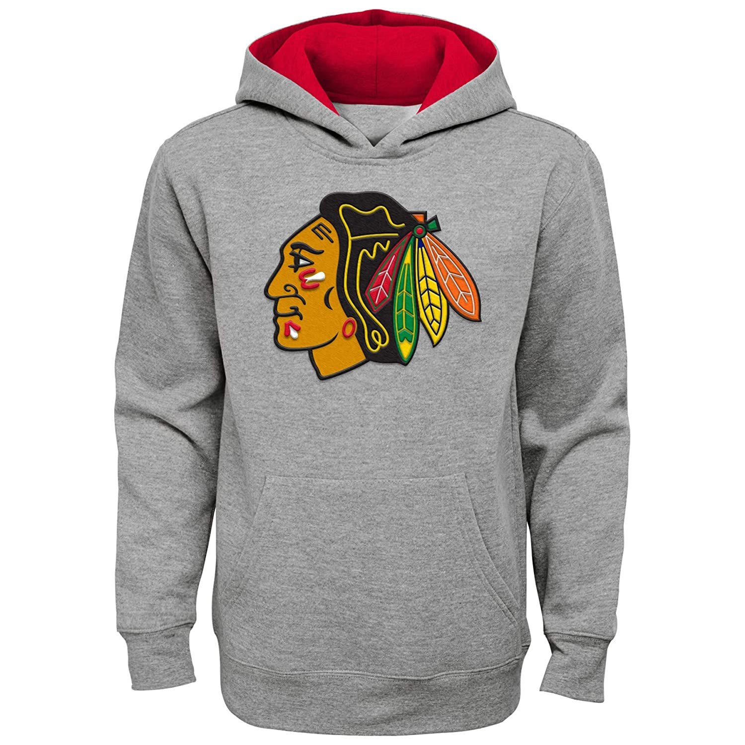 Chicago Blackhawks Youth All Grey Sweatshirt Outerstuff