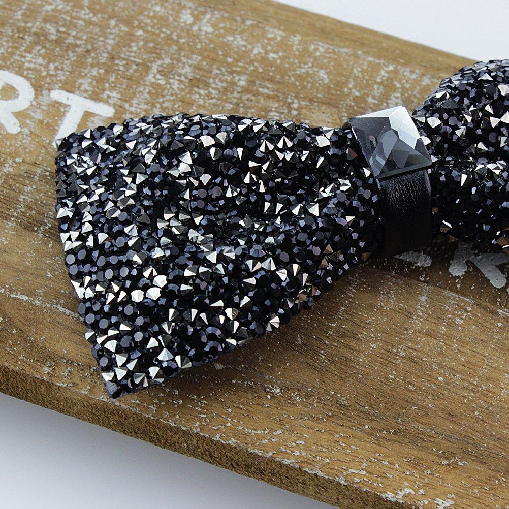 New Fashion Men Rhinestone Bow Tie Party Banquet Bowtie Wedding Accessories