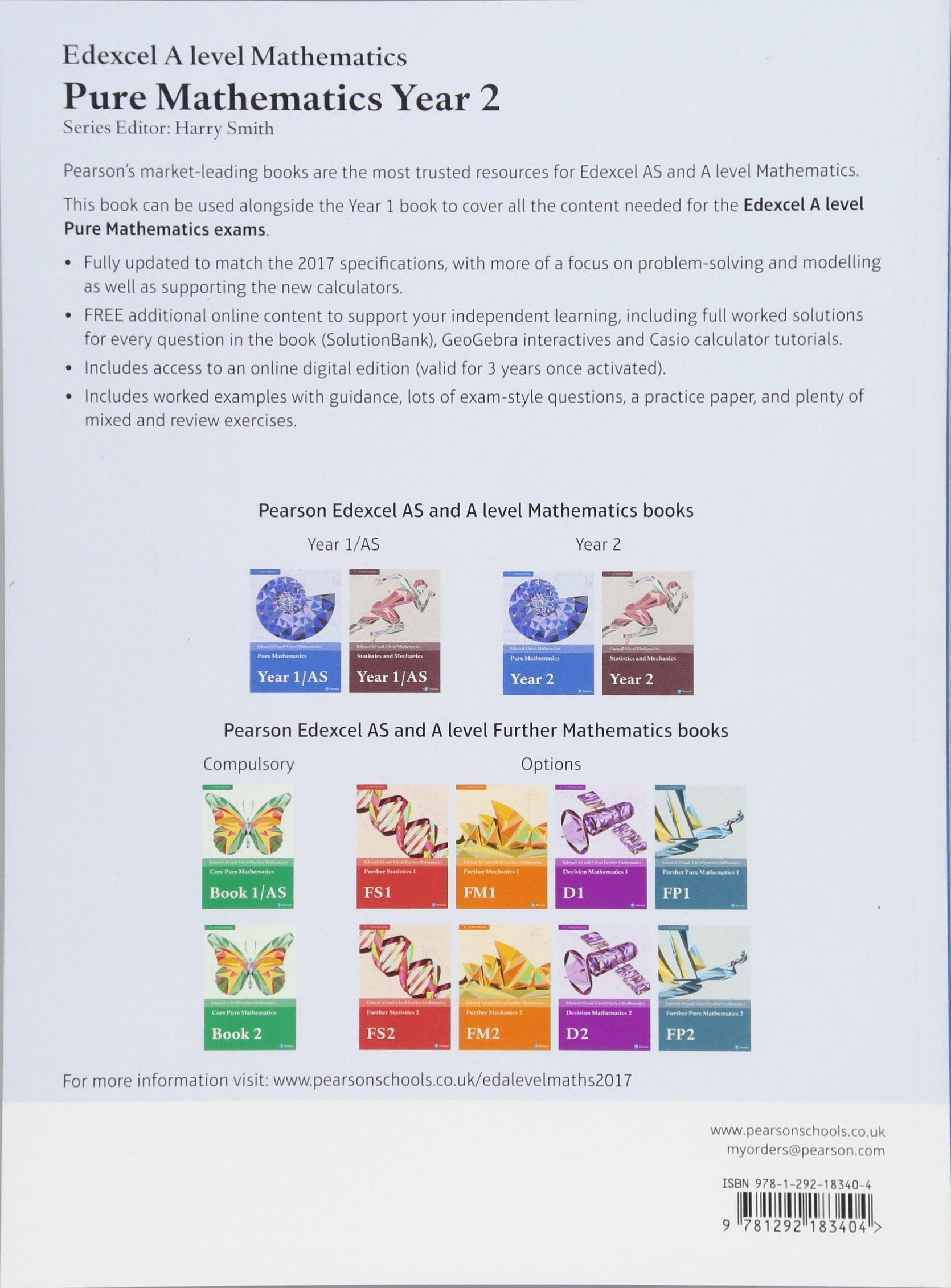 Edexcel June 13 D1 Ms Remtron Pump Boss Wire Diagram Array A Level Mathematics Pure Year 2 Textbook E Rh Amazon