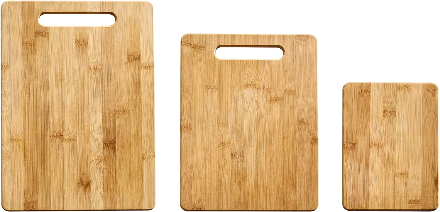 Farberware 5190597 3-Piece Bamboo Cutting Board, Set of 3 Assorted Sizes