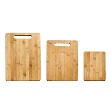 Farberware 5190597 3-Piece Bamboo Cutting Board Set, Assorted Sizes