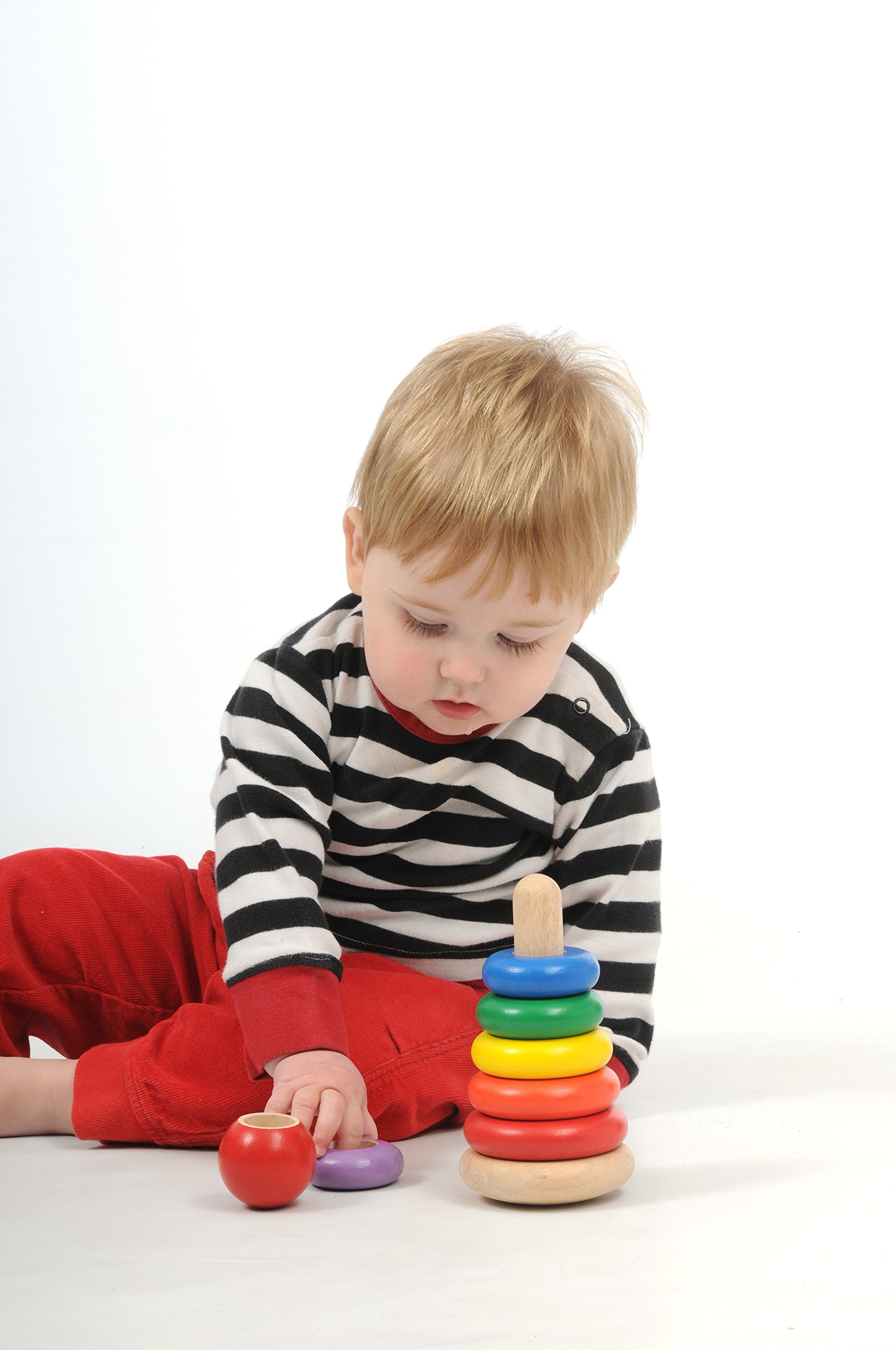 Wonderworld New Stacking Rings Baby Toy - Multi- Colored 7 Rings Non - Toxic by Wonderworld (Image #3)