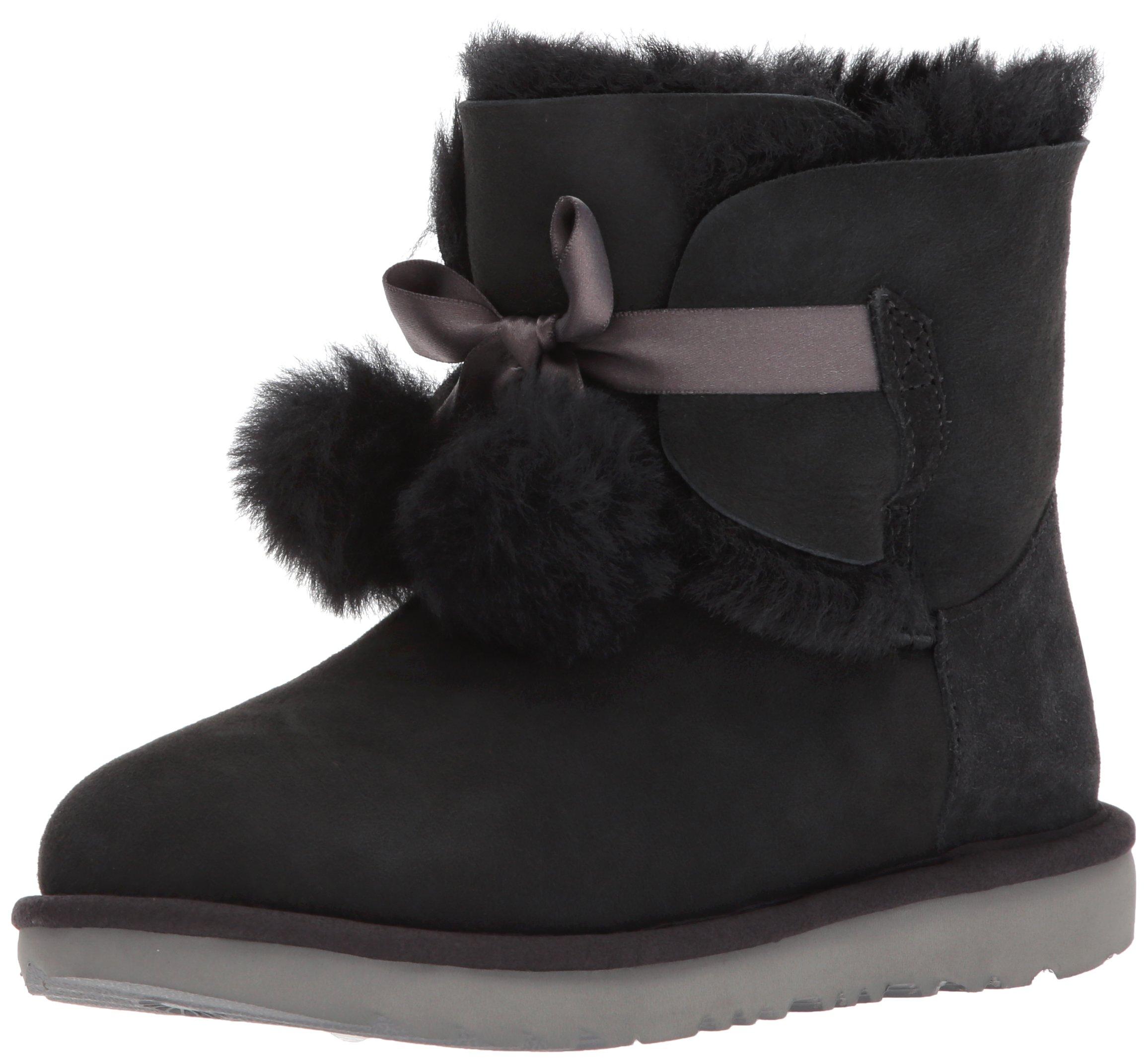 UGG Girls K Gita Pull-on Boot, Black, 5 M US Big Kid