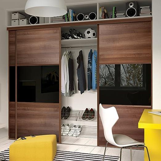 Puerta corredera de armario Set; 4 puerta; a medida lineal 3 Panel diseño. Para adaptarse a cualquier anchura de 3551 mm – 4555 mm (M 8 ins – 14 ft 11 ins)