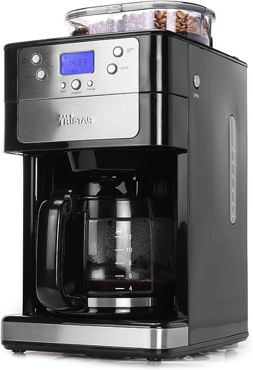 Tristar KZ-1228 - Cafetera con molinillo integrado para 2-12 tazas ...