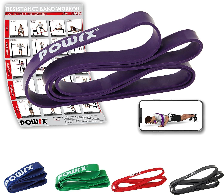 POWRX Bandas elásticas de Resistencia - Ideales para la tonificación y el potenciamiento Muscular