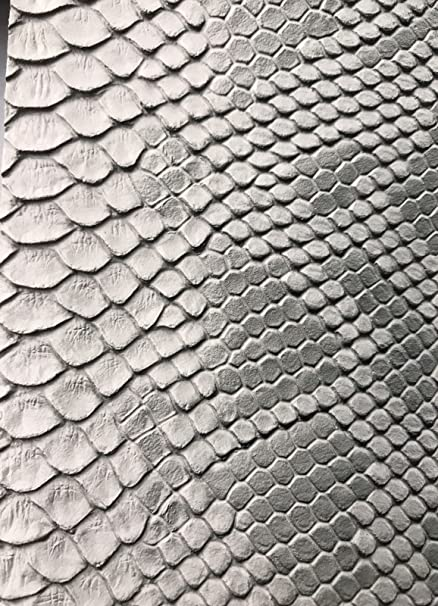 Amazon Com Vinyl Fabric Silver Gray Faux Viper Snake Skin Vinyl