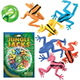 Play Visions Animal Jacks Game - 8 Vivid Rainforest Frogs And Colorful Superball Bouncy Ball