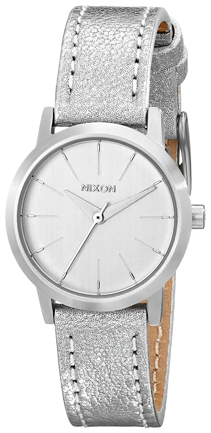 Nixon Women s Kenzi Stainless Steel Watch with Leather Band