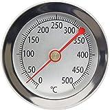 Acero inoxidable 500°C Termómetro con clip, cocinar Horno, horno, horno de pizza, madera Horno, madera del Horno, horno termómetro analógico y