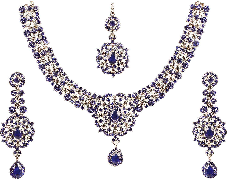 Touchstone Ensemble de Collier de Bijoux Indien en Faux et rhin Bollywood pour Femme