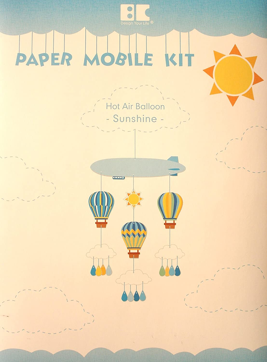 Amazon.com  Best Creation Hot Air Balloon Sunshine Paper Mobile Kit fbab7db54