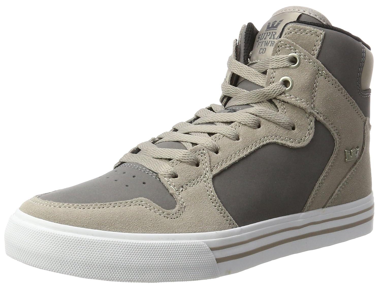 Supra Vaider LC Sneaker B073H9KXXH 7.5 M US|Vintage Khaki Charcoal White