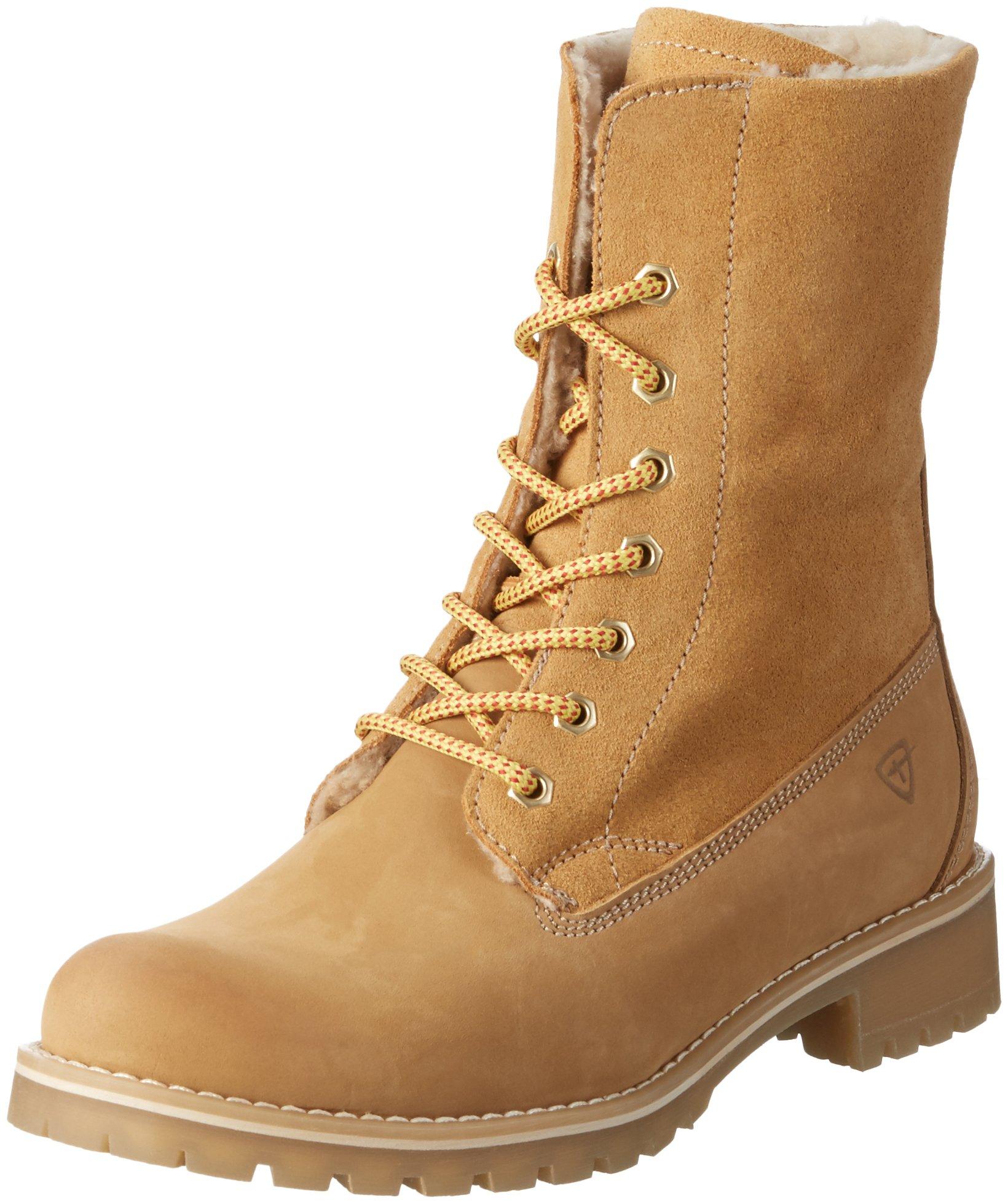 tamaris women 39 s 264 combat boots yellow corn 610 9 uk. Black Bedroom Furniture Sets. Home Design Ideas
