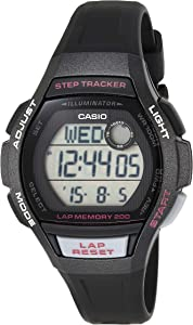 Casio LWS2000H-1AV Ladies Runner Series Black/Grey/Pink (Model: LWS-2000H-1AVCF)