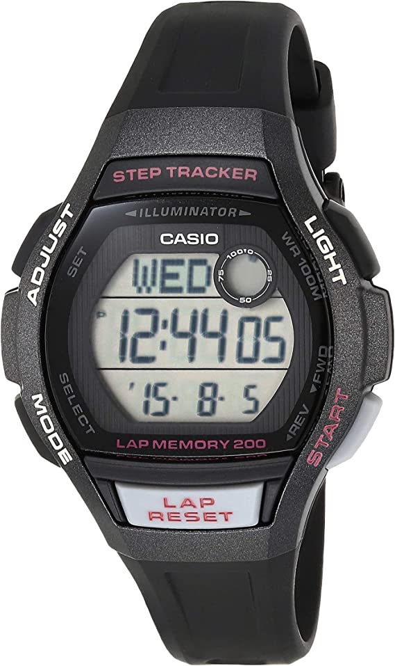 Casio Women's Runner Quartz Running Watch with Resin Strap