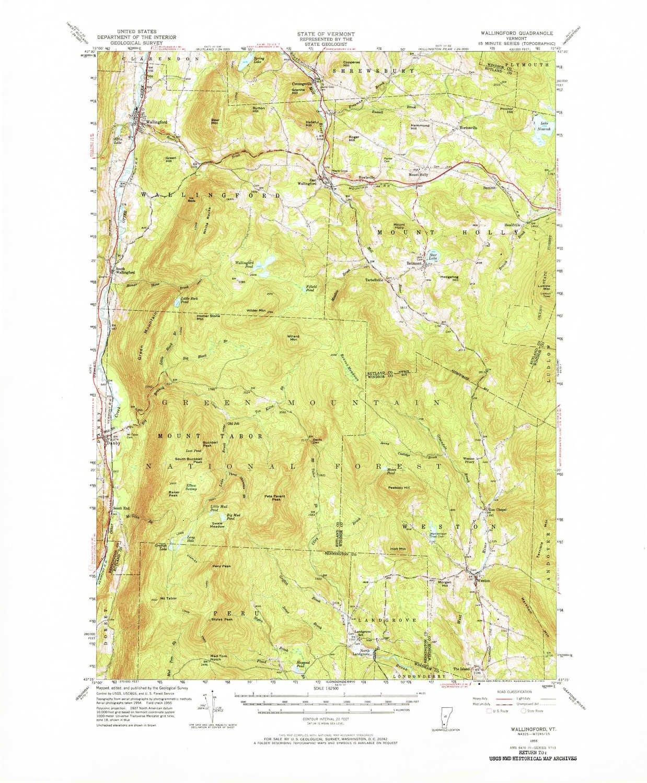 Amazon Com Yellowmaps Wallingford Vt Topo Map 1 62500 Scale 15 X
