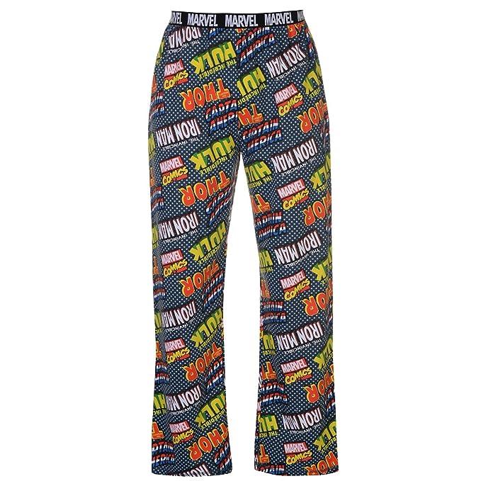 a3b4d6097 Various - Pantalón de Pijama - para Hombre Marvel Comics Strip S