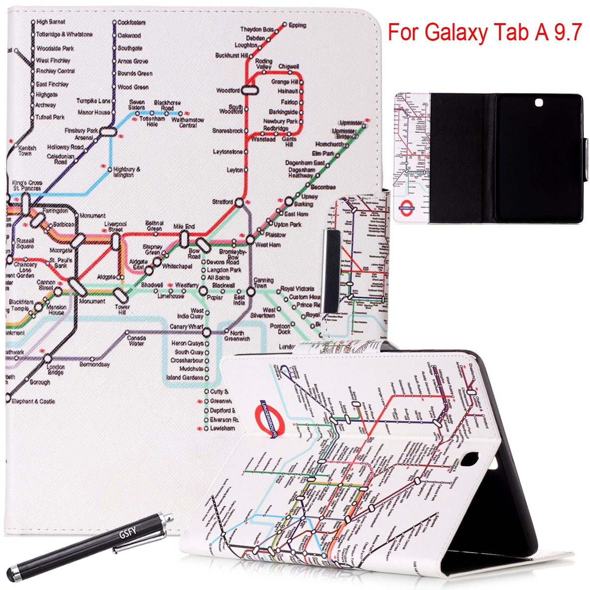 Galaxy Tab A 97 Case Newshine Auto Wake Sleep Stand Samsung S Circuit Diagram Pu Leather Flip Folio Wallet Cover For