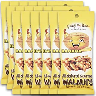 product image for Crazy Go Nuts Walnuts - Banana, 1.25 oz (18-Pack) - Healthy Snacks, Vegan, Gluten Free, Superfood - Natural, Non-GMO, ALA, Omega 3 Fatty Acids, Good Fats, and Antioxidants