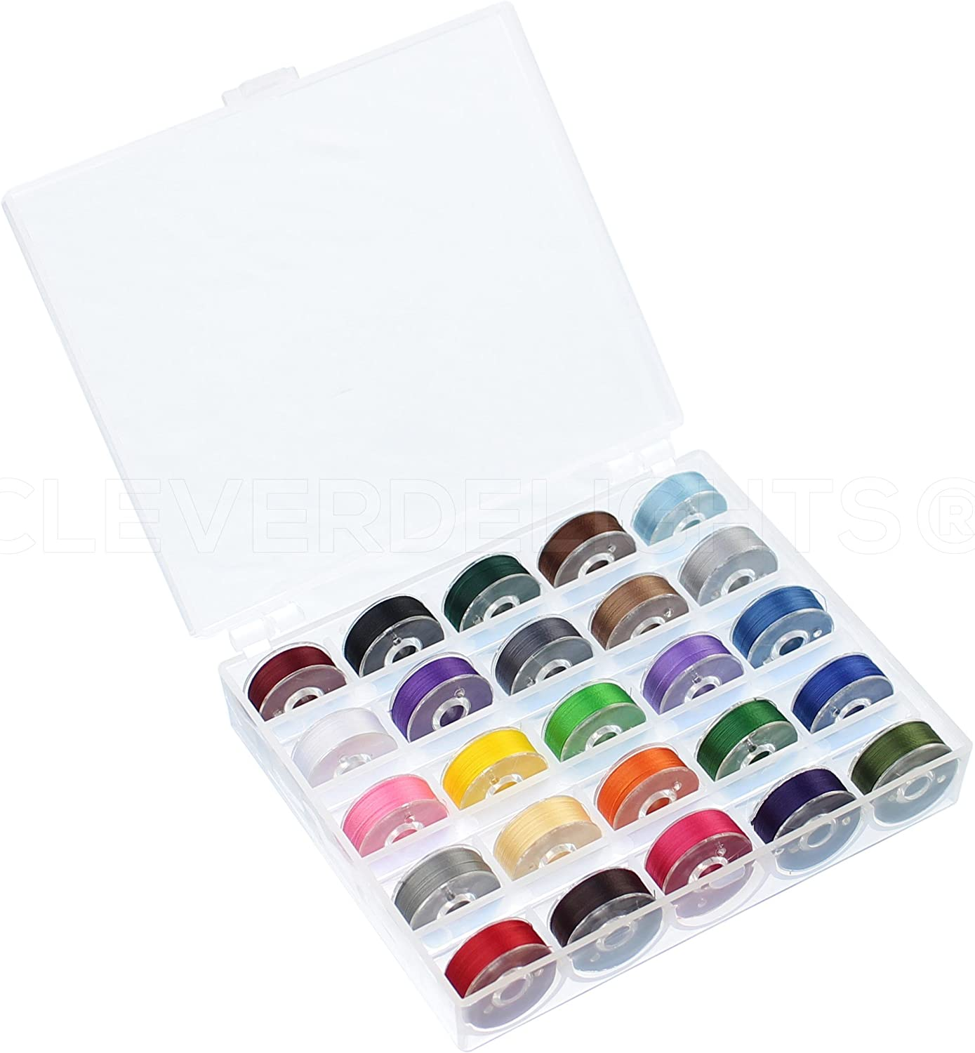 Storage Case 60wt Size A Bobbins Embroidery 25 Color Prewound Bobbins Set