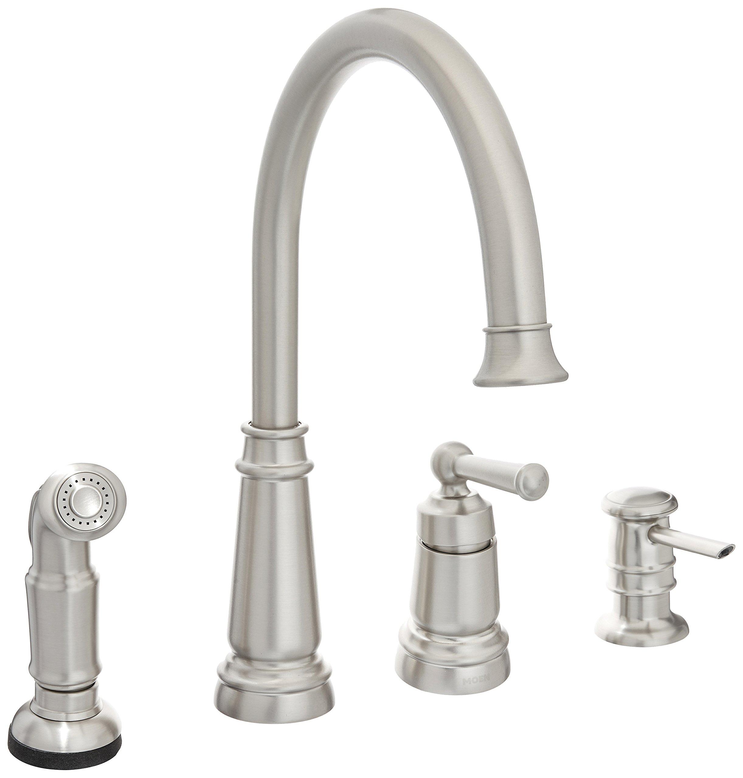Moen 87042SRS Edison One-Handle High Arc Kitchen Faucet, Spot Resist Stainless by Moen