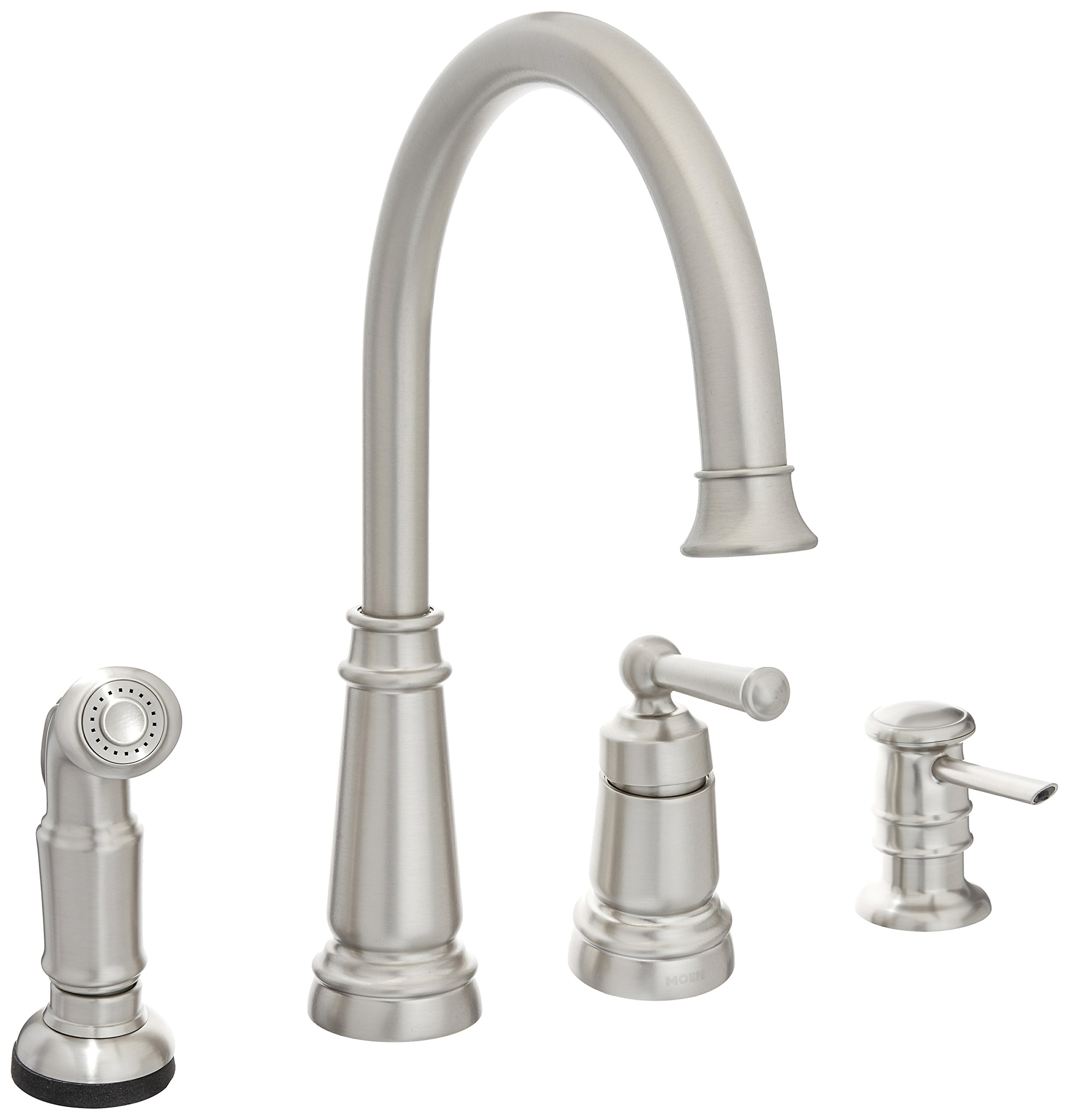 Moen 87042srs one handle high arc kitchen faucet spot resist stainless