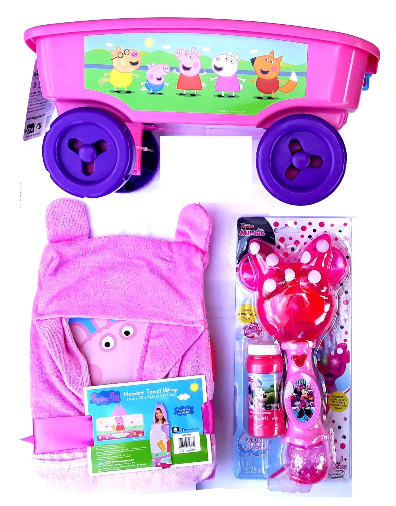 EONE Summer Package: Shovel Wagon, Beach Towel & Bubbles Peppa Pig Characters