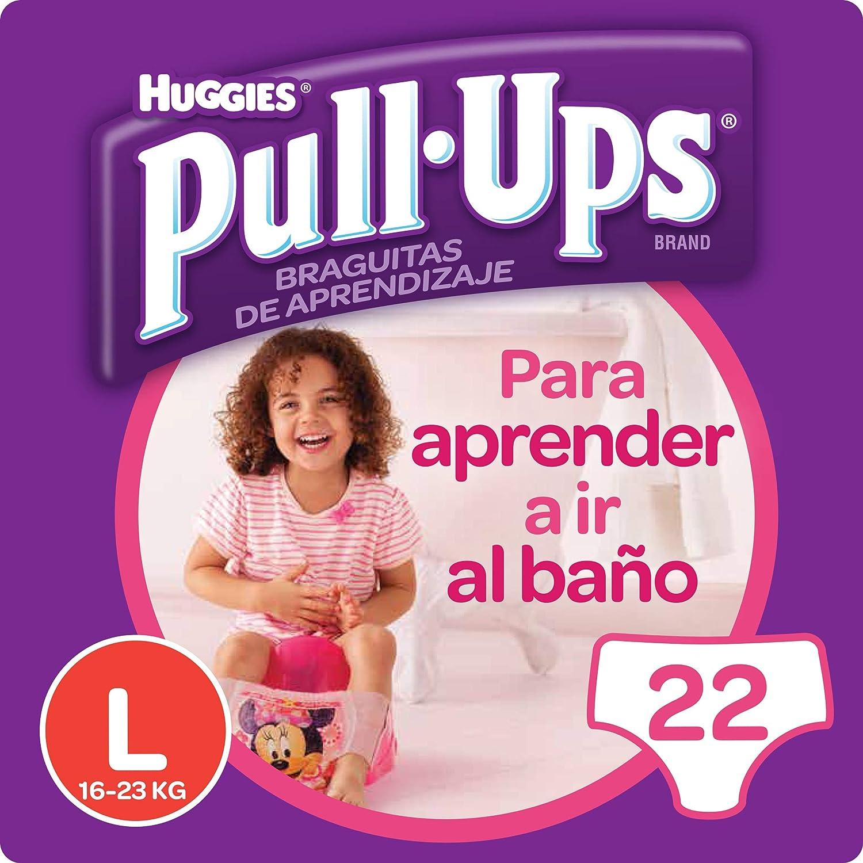 Huggies Pull-Ups - Braguitas de aprendizaje para niñas, talla M (11-18 kg), 26 braguitas, Pack de 2 5029053525976