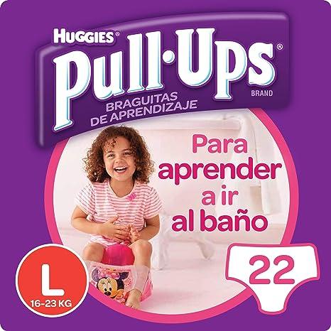 Huggies Pull-Ups - Braguitas de aprendizaje para niñas, talla L (16-