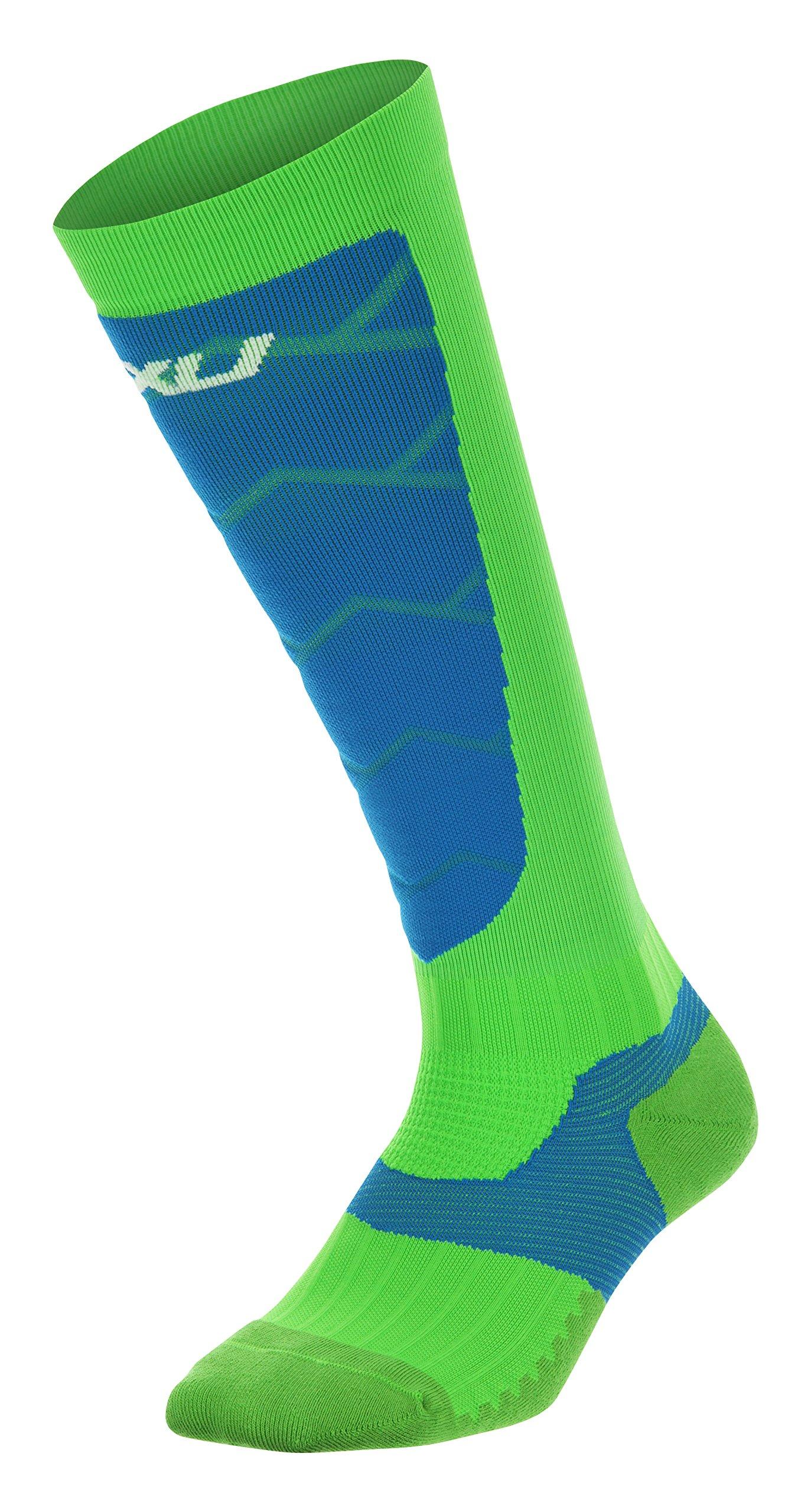 2XU Men's Elite Compression Alpine Socks, Gecko