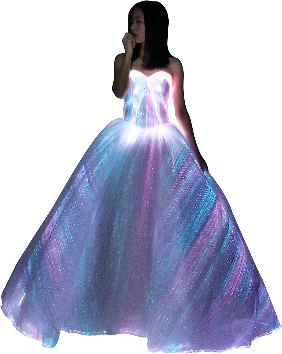 Led Light Up Fiber Optic Formal Luxury Glowing Party Wedding Dress Luminous Bridal Gown At Amazon Women S Clothing Store,Wedding Guest Fashionable Modern Indian Wedding Dresses For Girls